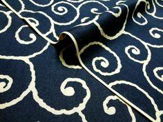 綿 和柄 唐草文様(紺)/和布/和生地/和柄生地/和柄/和風/【RCP】05P05July14【楽天市場】