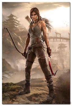 Tomb Raider Lara Croft Game Art Silk Poster Print 12x18 20x30 24x36 inches Tourniquet Render 003