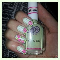 St. Valentine's Day Flowers - Nail Art   Tuto