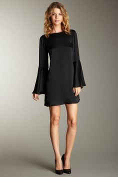 HauteLook #little black dress,  #silk  fashion,  cocktail  #mini dress  #versatile  | For more great pins, please follow me at www.pinterest.com/oliviabbradley