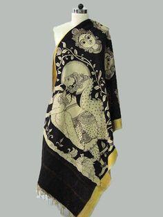 Black Face Cotton Kalamkari Dupatta