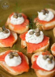 If you're looking for an elegant and tasty yet easy to make appetizer for your next dinner or holiday party, Smoked Salmon Crostini is always a favorite! (elegant appetizers for party) Christmas Cocktail Party Appetizers, Dinner Party Appetizers, Easy To Make Appetizers, Cocktail Party Food, Elegant Appetizers, Mini Appetizers, Christmas Party Food, Christmas Cocktails, Easy Christmas Appetizers