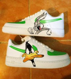 new product 002a5 4f286 Custom Nike Air Force one,daffy duck,bugs bunny,custom sneakers , custom  shoes , custom nike ,custom