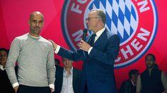 Keine gemeinsame Zukunft: Bayern-Trainer Guardiola und Vorstandschef Rummenigge