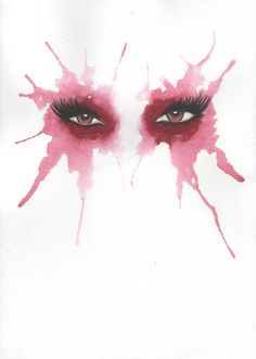 Original Water Colour Painting - Eyes 17 - starting at $3 in today's Daily Bazaar.