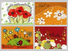 felicitari Polymer Clay Crafts, Folk Art, Cards, Diy, Ideas, Spring, Popular Art, Bricolage, Do It Yourself