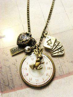 Alice in Wonderland Necklace - Etsy