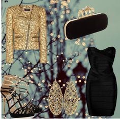 """""""For a Festive Night Out"""" by monwat ❤ liked on Polyvore"""