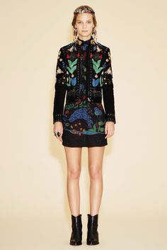 Valentino Resort 2016 Collection Photos - Vogue  A Christi Belcourt Inspired Design.  Native designs done right!