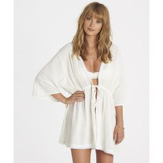Get free shipping at the Billabong online store. Sweeten up your seaside style with this crochet-trimmed kimono.