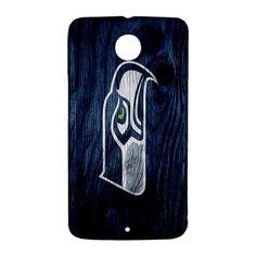 Seattle Seahawks on Wood Google Nexus 6 Case Cover
