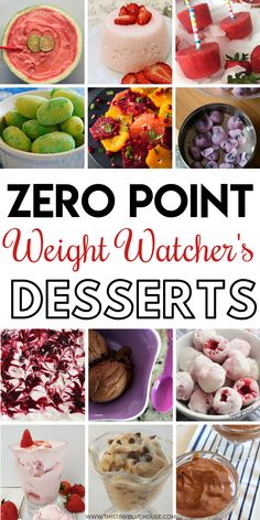 Here are 30 delicious and easy zero point Zero Point Weight Watcher's Desserts that are a perfect way to end a meal or indulge in a guilt free snack. These guilt free Weight Watcher's Dessert ideas ar Weight Watcher Desserts, Weight Watchers Snacks, Points Weight Watchers, Weight Watchers Program, Wieght Watchers, Ww Desserts, Healthy Desserts, Healthy Recipes, Delicious Desserts