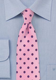 Businesskrawatte grob gepunktet rosé marineblau | Krawatte Hemd