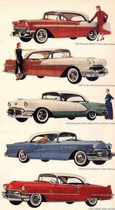theniftyfifties:  General Motors 1956 models.
