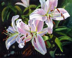 Monika Pate | WATERCOLOR | Three Lilies