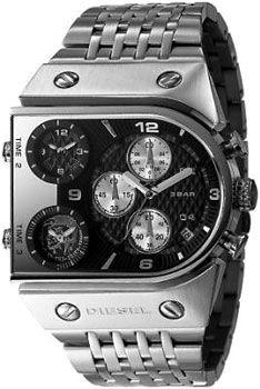 DIESEL ディーゼル 腕時計3つの時間を一気に表示 トリプル&クロノグラフブラック×シルバーメタルバンド DZ9052メンズ ウォッチ Watch4ポイントビス モヒカン【楽天市場】