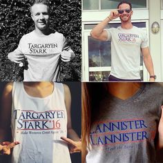 Make Westeros Great Again! Feel The Burn! In Dragons We Trust! Rock your vote for the Iron Throne! Enter code Squad15 at checkout for 15% off your entire purchase! Follow @moneylinetees! MoneyLineTees.com.