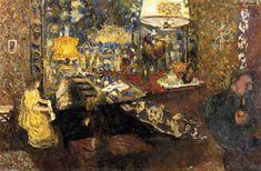 Edouard Vuillard - Misia au piano, huile sur panneau - 55 x 80 cm - 1899