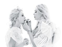 Dakota & Elle Fanning by Mario Sorrenti for W Magazine December 2011