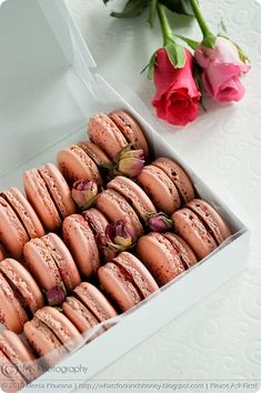 Rosewater and Raspberry Macarons (02) by MeetaK