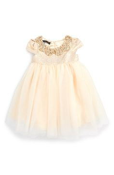 'Her Majesty'Metallic Ballerina Dress (Baby Girls) for a special occasion