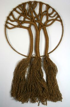 Vintage+Jute+TREE+OF+LIFE+60s+70s+Macrame+Wall+by+FunInTheDaytime