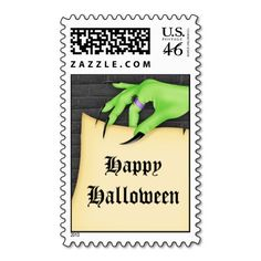 Witch Hand Halloween Postage Stamp #halloween #postage #stamps