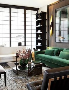 Inspiracje w moim mieszkaniu {Inspiration in my apartment}: Zielona kanapa do salonu / Green sofa for the livi...