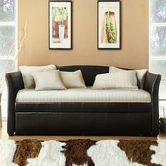 Oxford Creek Flare Arms Daybed With Trundle Dark Brown