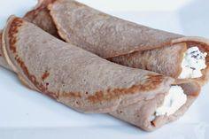 Veselé Borůvky: Bezlepkové palačinky z kaštanové mouky Healthy Breafast, Waffles, Pancakes, Buckwheat, Paleo Diet, Crepes, Oatmeal, Ethnic Recipes, Sweet
