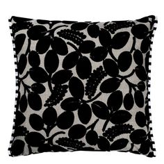 Designers Guild Calaggio Noir Cushion Ccdg0236 ($148) ❤ liked on Polyvore featuring home, home decor, throw pillows, striped throw pillows, stripe throw pillows and leaf throw pillow