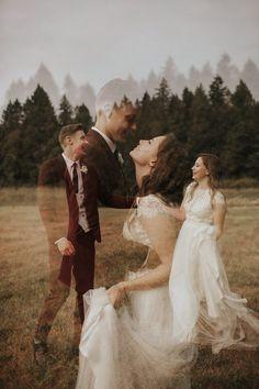 Stylish Outdoor Oregon Wedding at Clackamas River Farm #creativeweddingphotographyinspiration