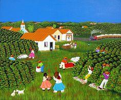 Noon on the Coffee Plantation by Ana Maria Dias