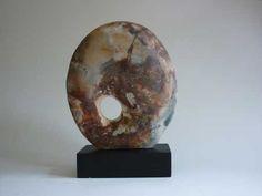 Pit-fired ceramics Inorganic , sculpture by artist Mary Kaun English titled: 'Bulwark (Ceramic Circular Indoor Sculptures)' £225 #sculpture #art
