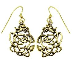 Bronze Earring Celtic Dragon ($12) ❤ liked on Polyvore featuring jewelry, earrings, earrings jewellery, bronze jewelry, bronze earrings and earring jewelry
