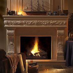 The Venetian Cast Stone Fireplace Mantel - Intricate, Classy and Elegant. Starting at $3515  http://www.mantelsdirect.com/cast_stone/majestic_series/venetian-stone-fireplace-mantel.html