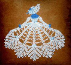 Items similar to 0516 Ms Frost Crinoline Girl Doily Crochet Pattern on Etsy Crochet Dollies, Crochet Doily Patterns, Crochet Quilt, Crochet Girls, Thread Crochet, Filet Crochet, Crochet Motif, Crochet Designs, Crochet Crafts