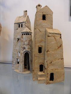 ... , Mini Houses, Hoog Gestookt, Ceramics House, Tall, Keramiek Huisjes