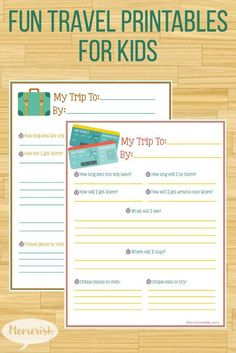 Get your family travel started right with these travel printables for kids!