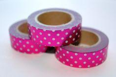 Masking tape roze met witte stip shiny!  from studio Stationery www.pippikokel.nl