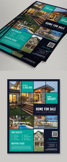 Real Estate Flyer by Comodensis 1. 1 PSD Files2. Smart Object 3. 300 dpi 4. CMYK 5. 303×216 mm 6. Easy to use 7. All text editable with text tool Images not incl
