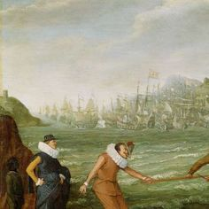 Allegorie op de overwinning van de Hollandse op de Spaanse vloot bij Gibraltar, 25 april 1607, Adam Willaerts, ca. 1615 - ca. 1630 - Rijksmuseum.