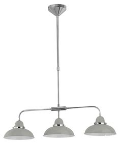 Pendant light grey & chrome 3 light Sale - Premier