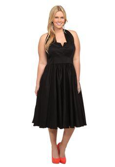 Queen Of Heartz - Black Halter Dress