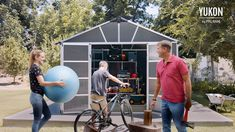 Made from ultra-resilient polycarbonate and aluminum, our sheds defy the passage of time; provide year-round, maintenance-free, easy-to-assemble protection. Shed Organization, Shed Design, Storage Sheds, Garden Buildings, Organizing Your Home, Skylight, Patio, Easy, Free