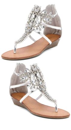 Bucco Rhinestone Sandals- these have my daughter's name all over them!