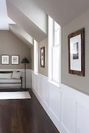 Paint Colour: Benjamin Moore Berkshire Beige / Flat @ DIY Home Design trim, wall color, stairsway Taupe Paint Colors, Hallway Paint Colors, Room Colors, House Colors, Gray Paint, Beige Hallway Paint, Taupe Color, Living Room Wall Colors, Pottery Barn Paint Colors