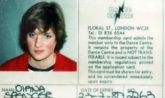 June Lady Diana Spencer's laminated photo membership card from 1980 for the Dance Centre in Floral Street, Covent Garden, where Wayne Sleep, Rudolf Nureyev and Margot Fonteyn used to practise, is expected to fetch to Princess Diana Death, Princess Diana Family, Princess Diana Pictures, Princess Of Wales, Real Princess, Lady Diana Spencer, Spencer Family, Elizabeth Ii, Camilla