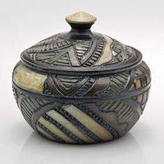 Salt-fired pottery vessel by Ginger Steele