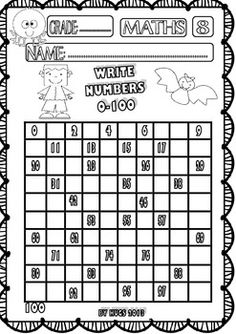 HALLOWEEN MATHS FUNNY WORKSHEETS FOR P-K, K AND 1ST GRADE - SET 1 - TeachersPayTeachers.com